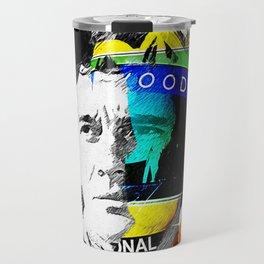 Ayrton Senna do Brasil - White & Color Series #4 Travel Mug