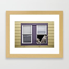 Window Watchers Framed Art Print