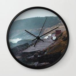 Pouch Cove Haze Wall Clock