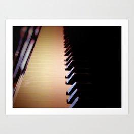 Piano Keys Close Up Instrument Wall Art Musical Home Decor A080 Art Print
