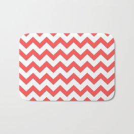 Chevron (Red & White Pattern) Bath Mat
