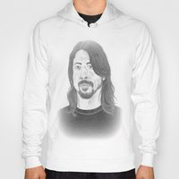 dave grohl Hoodies featuring Dave Grohl , Portrait Art by N_T_STEELART