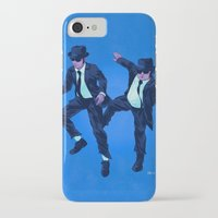 blues brothers iPhone & iPod Cases featuring Blues Brothers by Dave Collinson