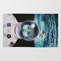 pilot Area & Throw Rugs featuring Miss Space Pilot by SEVENTRAPS