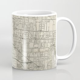 Vintage Map of Memphis Tennessee (1911) Coffee Mug