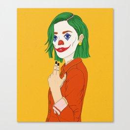 Joker girl - Put on a happy face Canvas Print