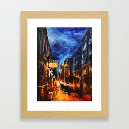 """Leaving New York"" Painting Framed Art Print"
