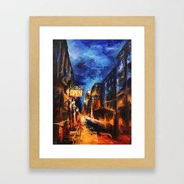 """""""Leaving New York"""" Painting Framed Art Print"""