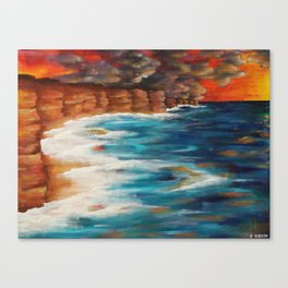 Moroccan Sea Spray Canvas Print