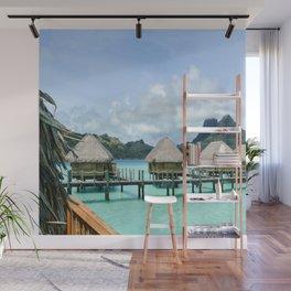 Tahitian Paradise View Wall Mural