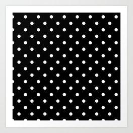 Black & White Polka Dots Art Print