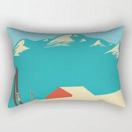 Vintage Mountains Rectangular Pillow