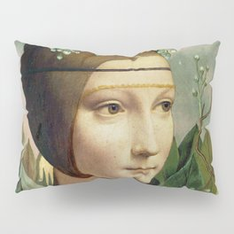 F.K.'s Self Portrait & Leonardo's Lady with a Ermine Pillow Sham