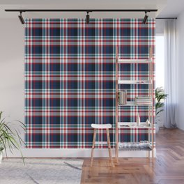 Independence Day Plaid Wall Mural