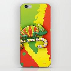 Christmas Chameleon iPhone & iPod Skin