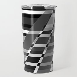 Black and white abstract pattern . The slant line 1. Travel Mug
