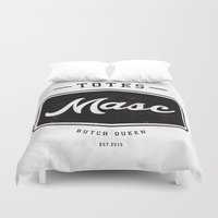 totes Duvet Covers featuring Totes Masc - Vintage by lessdanthree