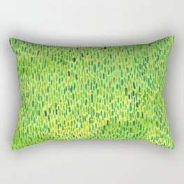 Watercolor Grass Pattern Green by Robayre Rectangular Pillow