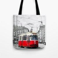 vienna Tote Bags featuring Vienna by Ira Golenkova