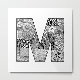 Cutout Letter M Metal Print