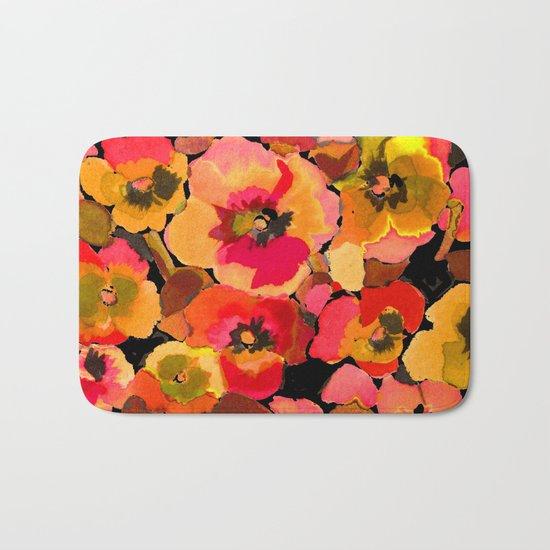 peach  floral Bath Mat