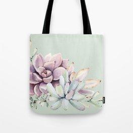 Beautiful Mint Succulents Tote Bag