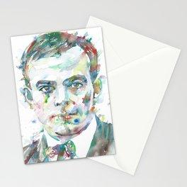 ANTOINE DE SAINT-EXUPERY watercolor portrait.4 Stationery Cards