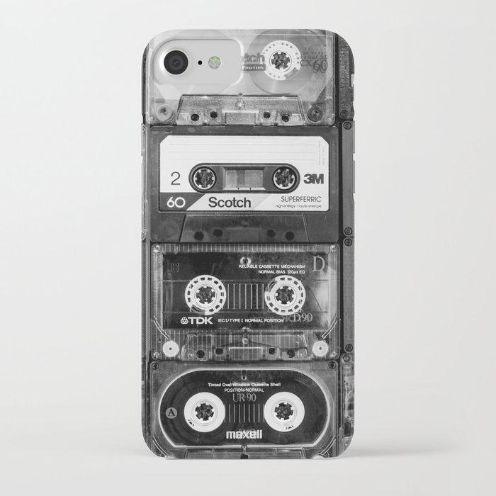 Something Nostalgic - black and white #decor #buyart #society6 iPhone Case