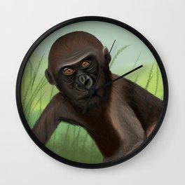 Gorilla in the Jungle Wall Clock