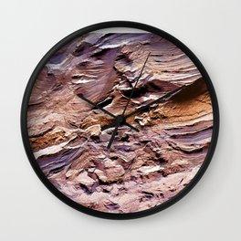 Petrified Wood Textured Wall Art Wall Clock