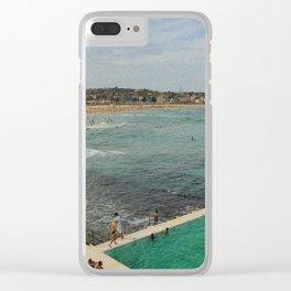Bondi Beach Icebergs Old Clear iPhone Case
