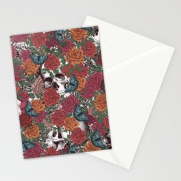 Roses, Skulls and Butterflies Stationery Cards