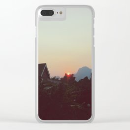 Vang Vieng Sunset Clear iPhone Case