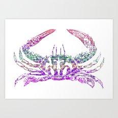 Rainbow Crab Art Print