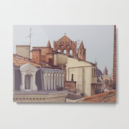 Rooftops of Toulouse France - Skyline of French Urban Architecture Metal Print