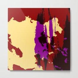 Ishiraku - Abstract Colorful Retro Tie-Dye Style Pattern Metal Print