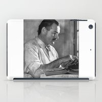 hemingway iPad Cases featuring Ernest Hemingway  by Limitless Design