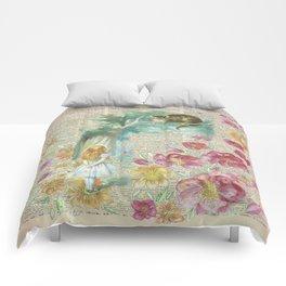 Vintage Floral Alice In Wonderland Comforters