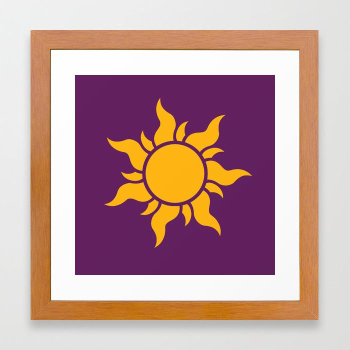 Tangled Rapunzel Sun Logo Corona Symbol Framed Art Print By Teohoble Society6