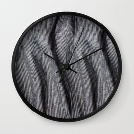 Striped linen textile Wall Clock