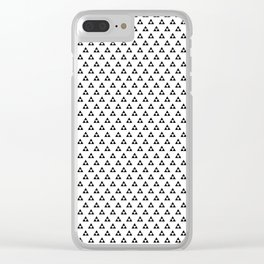 Triforce (Black on White) Clear iPhone Case