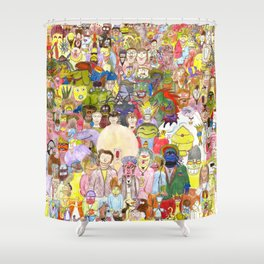The Fuzzy Crowd Shower Curtain