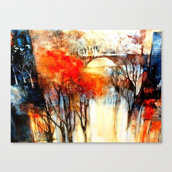 Morning Fog Reflection Canvas Print