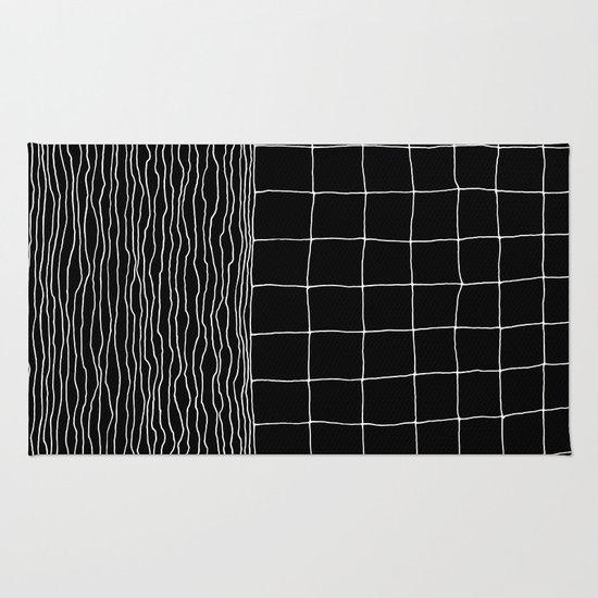 Hand Drawn Grid Rug