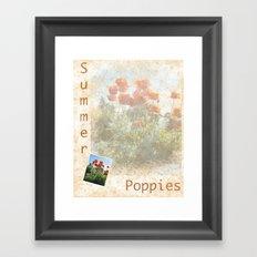 Summer Poppies Revisited Framed Art Print