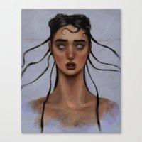 fka twigs Canvas Prints featuring FKA Twigs by Alexander Scott