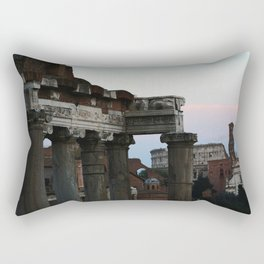 Roman Forum and Colosseum of Rome at Sunset Rectangular Pillow