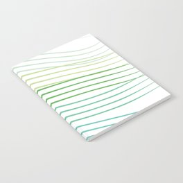 Green Stripes Notebook