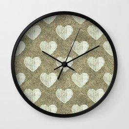 Hearts Motif Pattern Wall Clock