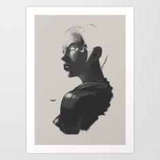 X sketch 02 Art Print